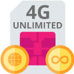 4G UNLIMITED - sim only onbeperkt internet